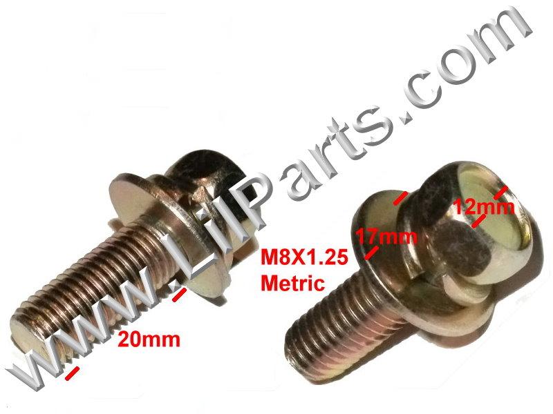 Anodized Metric Bolt Captive Washer Car Body Fender M8 x 1.25 x 20mm Hex Head PN:[H2106]