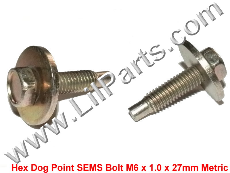 Anodized Metric Hex Dog Point Bolt Captive Washer Car Body Fender M6-1.0 x 23mm PN:[H2104]