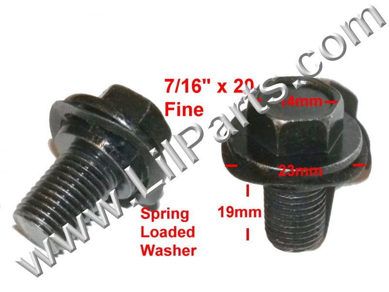 Black Metric Hex Bolt Captive Spring Washer Car Body Fender 7/16 x 20 Fine PN:[H2132]