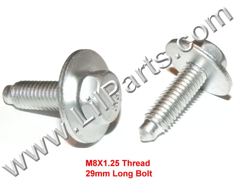 Zinc Plated Metric Dog Bolt Captive Washer Car Body Fender 12mm Hex M8 X1.25 x29mm  PN:[H2098]