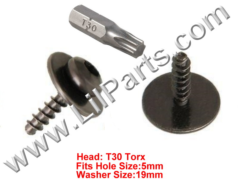 Ford T30 Torx Head Screw Bolt Captive Washer Car Body Fender Panel Trim  PN:[H2095]