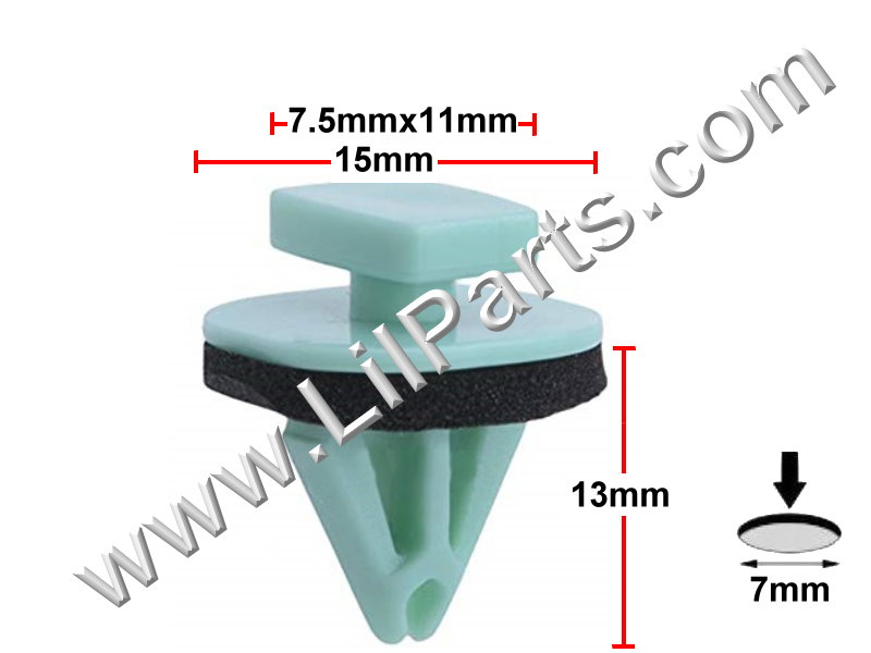 Replaces GM Fender Moulding Clip Buick Enclave Cadillac CTS Chevrolet Traverse GMC Acadia 2003 - PN:[11-607]