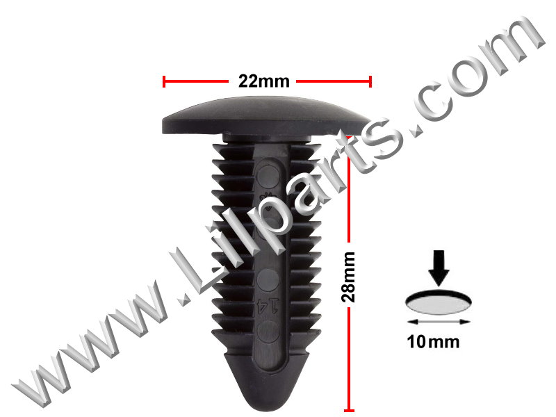 Compatible with Ford GM Bumper Facia Retainers Clips (GM # 1631564)( Ford # N804379S)  PN:[10-207] Auveco 15478