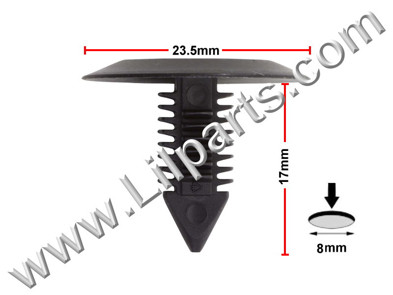 Compatible with Ford: 385661-S, Chrysler: 6003349, 6032363, VW: N989022 1975-On PN:[10-037] Auveco 11351