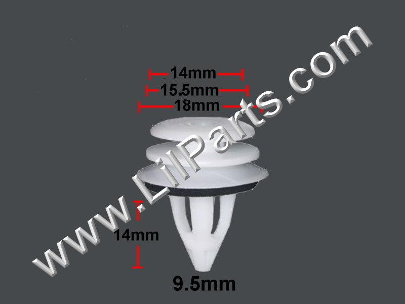 Compatible with BMW Body Door Panel Clip 51-41-8-224-768 51-41-0-407-984 E36 E46 E82 E90