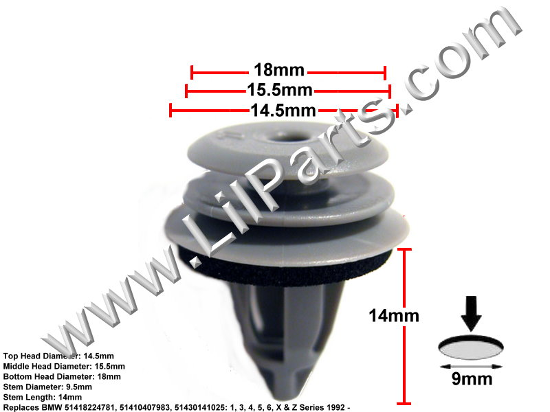 Compatible with BMW: 51418224781 51410407983 51430141025, 003-80-09897, Auveco 22229