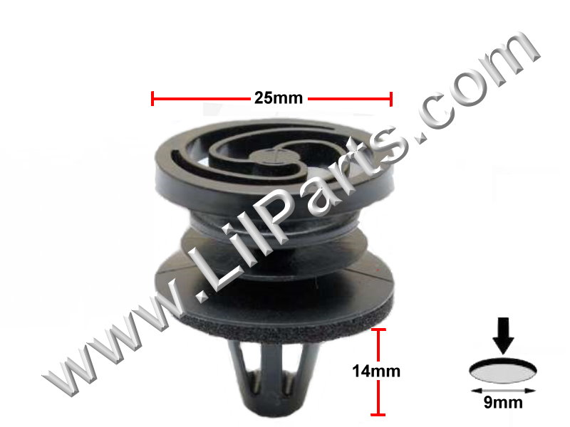 Compatible with Door Panel Mounting Clip Clip VW Fox, Polo, Gol, Golf, 5x0867299 Auveco 21894 PN:[11-848]