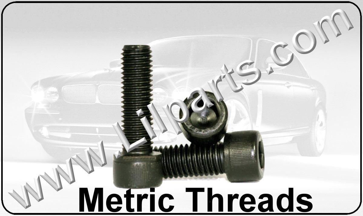 Black Oxide Metric Hex Cap Screws Automotive Fender Body Door Panel Fastener Retainer