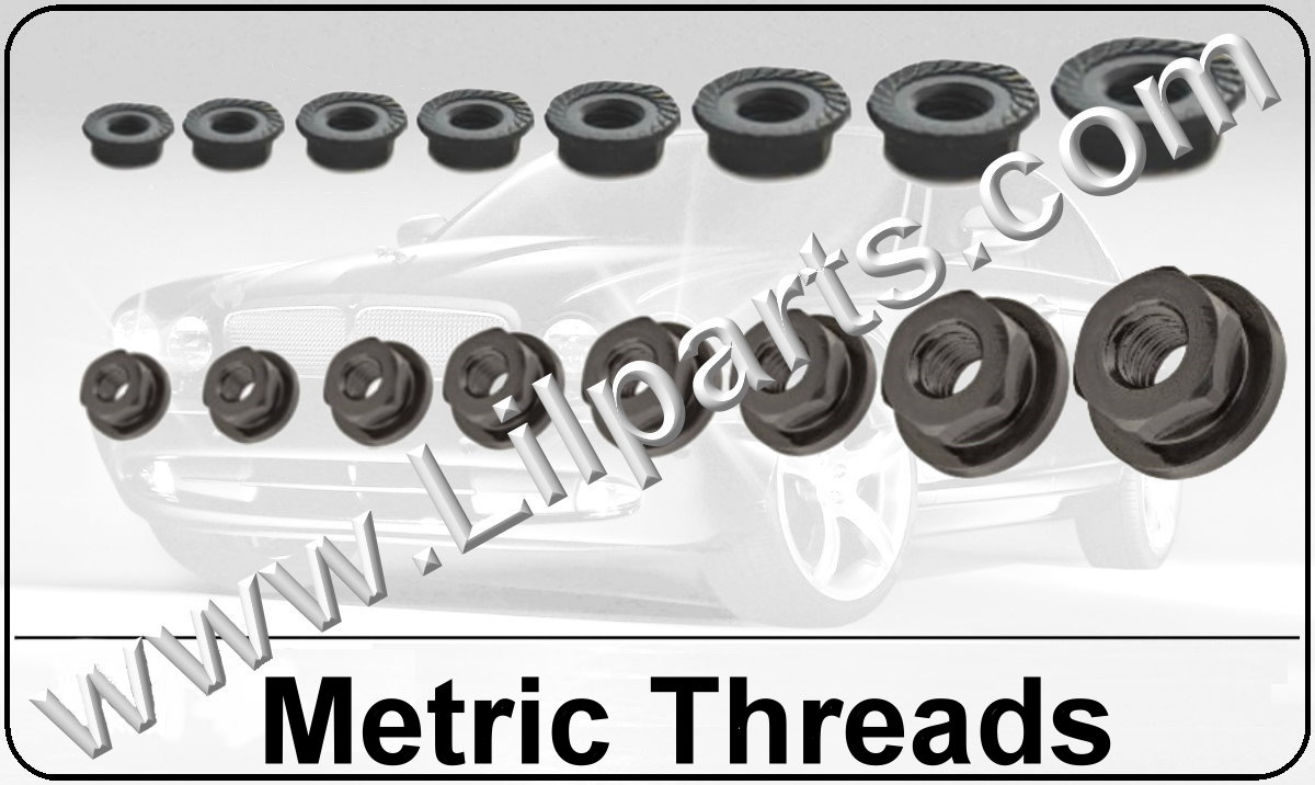 Black Oxide Metric Flange Nuts