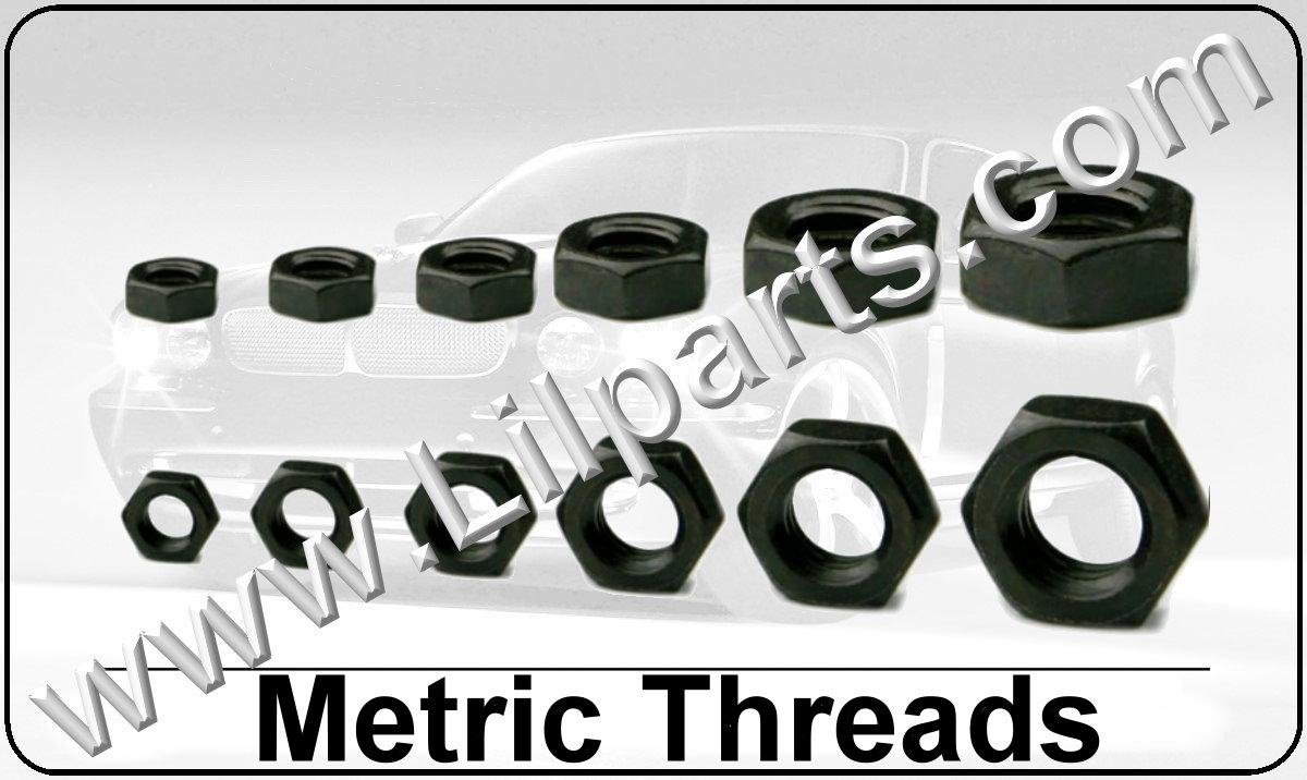 Black Oxide Metric Hex Nuts