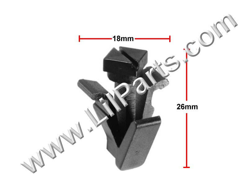 Grille Clip.Compatible with Nissan 76882-0M060; Nissan Frontier, Krom & SL 2006 -, Auveco 21619, PN:[11-632]