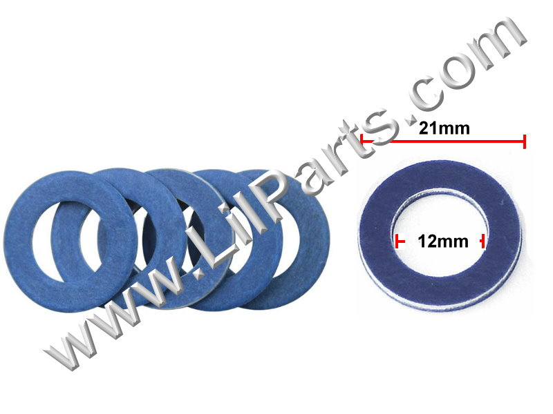Compatible with OIL DRAIN PLUG CRUSH WASHER GASKETS 90430-12031 - TOYOTA Auveco 22134,Auveco 18849