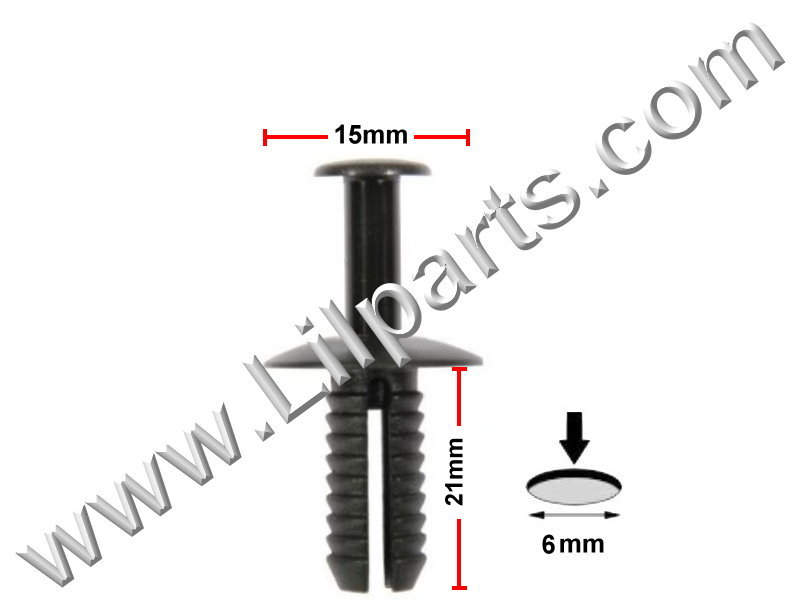 Compatible with BMW Interior Door Card Moulding & Trim Panel Retainer Clips 51118174186  PN:[10-264]