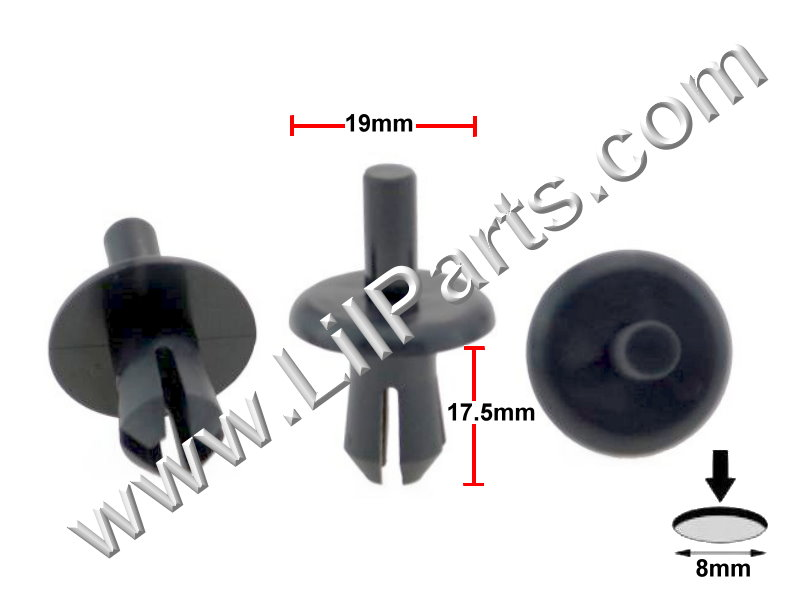 Compatible with BMW Opel Astra Zafira Corso SPREADER RIVETS Wheel Arch Clips Bumpers Clips  PN:[11-764]