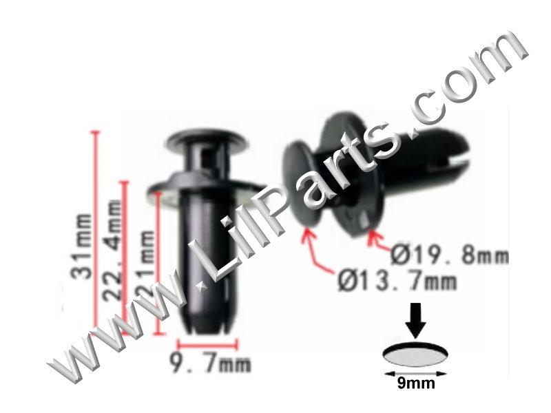 Compatible with Acura HONDA OEM 14-17 RLX Exterior-Rocker Molding Clip 90501SDR003  PN:[11-873]