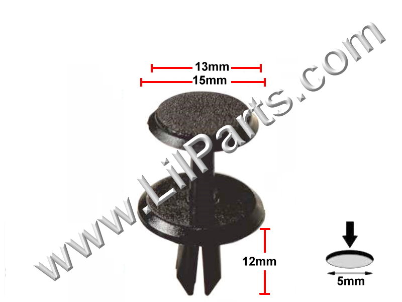 Compatible with PORSCHE OEM 11-17 Cayenne Front Suspension-Shield Rivet N10700901  PN:[11-850]