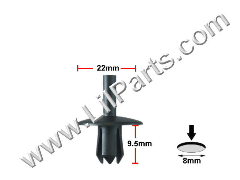 Compatible with AUDI VAUXHALL VOLKSWAGEN INTERIOR TRIM PANEL CLIPS N90229301 Auveco 22095