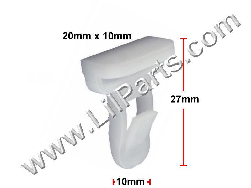 Front & Rear Spoiler Moulding Clip Auveco 21857 PN:[TF69]