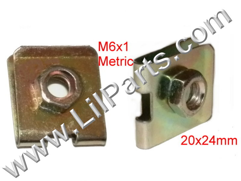 M6-1.0 U J Fold Over Clip Floating Nut Body Fender Dash Door Instrument Panel Door PN:[YT2218]