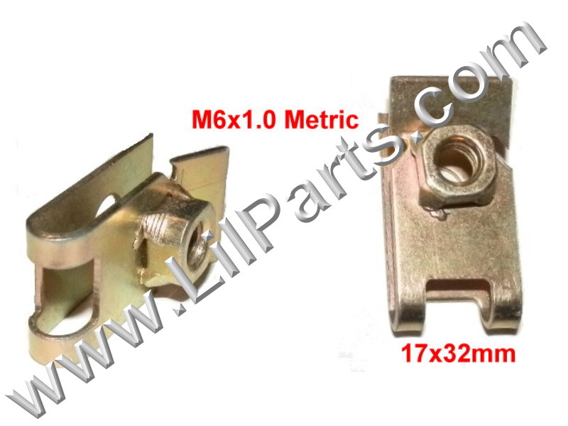 M6-1.0 Zinc Plated U J Fold Over Clip On Floating Nut Sheet Metal Body Fender PN:[YT2258]