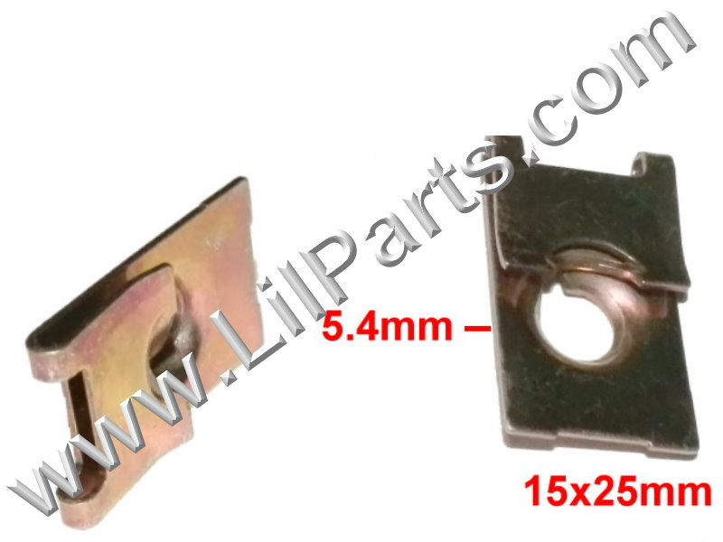 M5 U J Fold Over Clip Floating Nut 5mm Body Fender Dash Door Instrument Panel Door PN:[H2046]
