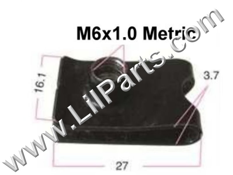 M6-1.0 Black Oxide U J Fold Over Clip On Extruded Nut Sheet Metal Body Fender PN:[YT2294]
