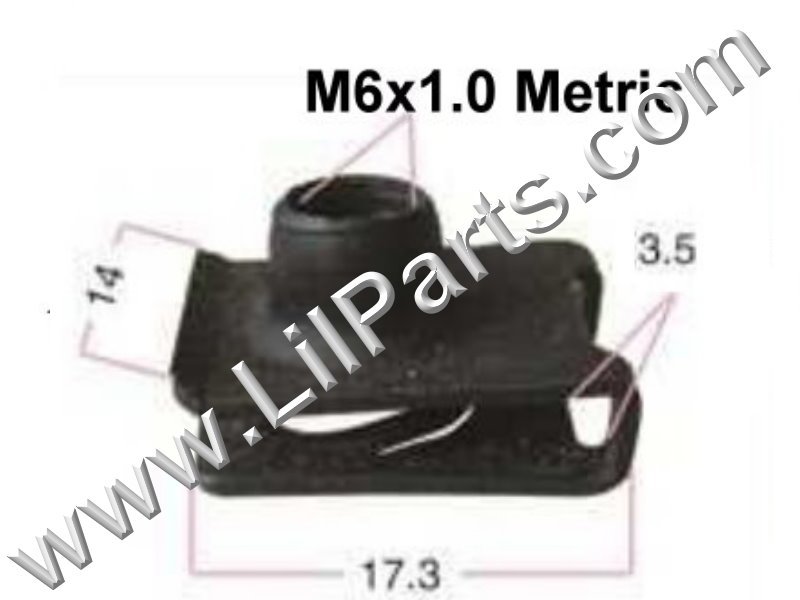 M6-1.0 Black Oxide U J Fold Over Clip On Extruded Nuts M6 X 1.0 Sheet Metal Body Fender PN:[YT2282]