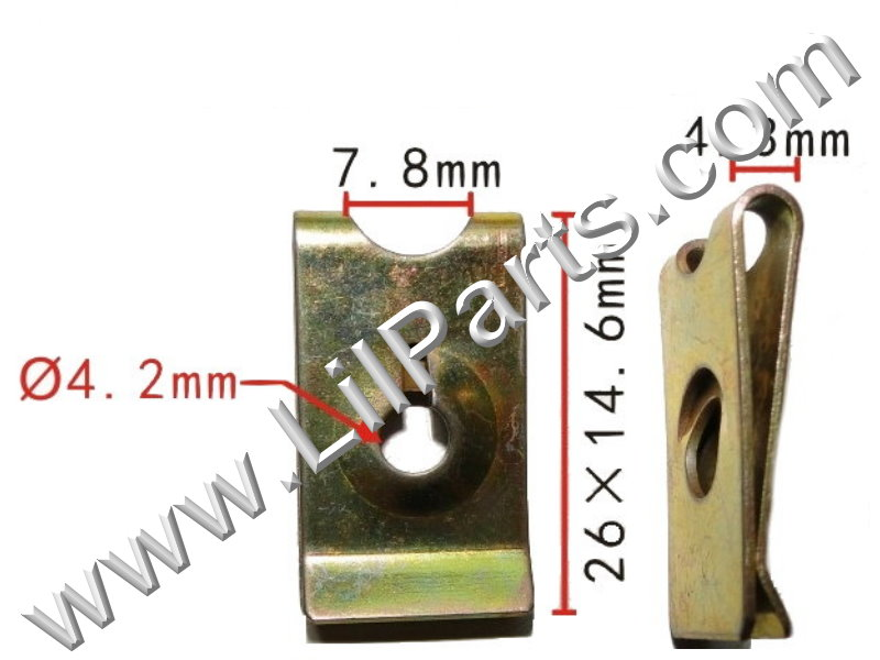M4 Zinc Plated U J Fold Over Clip On Floating Nut Sheet Metal Body Fender PN:[H2048]