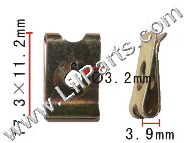 M4 Zinc Plated U J Fold Over Clip On Floating Nut Sheet Metal Body Fender PN:[H2045]