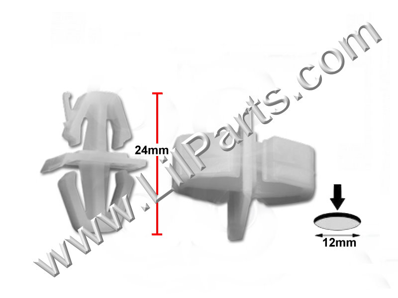 Compatible with Volvo Rocker Molding Clip 30808521  PN:[11-824]