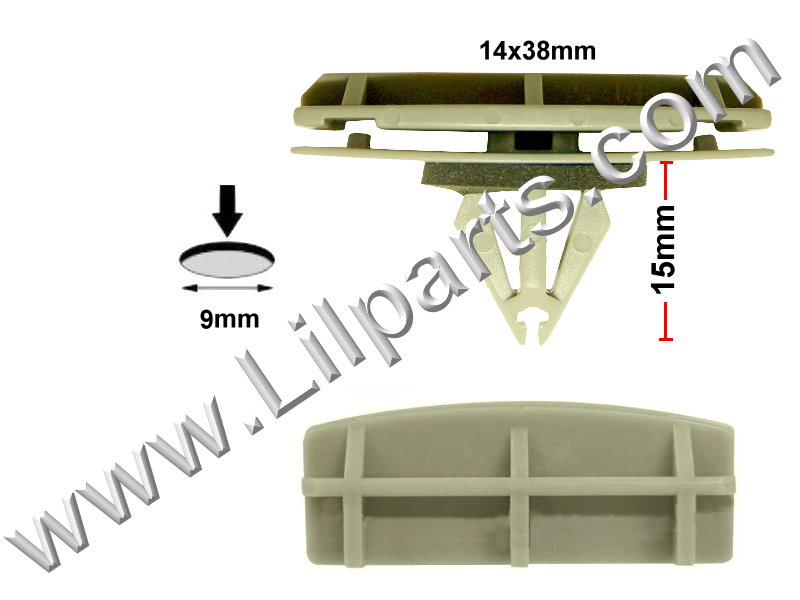 Compatible with Chrysler: 55157055-AA, 55157065-AA Jeep Liberty 2005 - On N/A