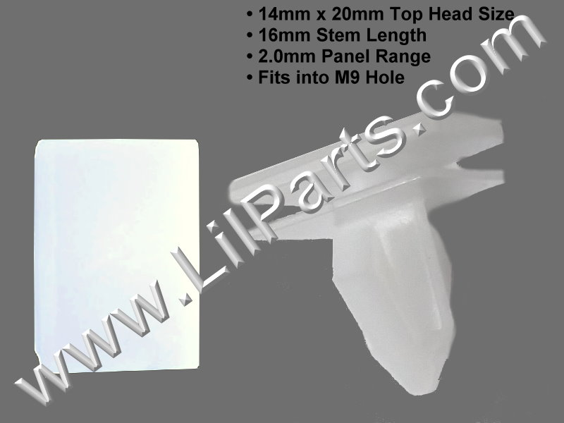 Compatible with Chrysler 300 Dodge Charger 2011-Rocker Molding Clip 68092697aa Auveco 20870