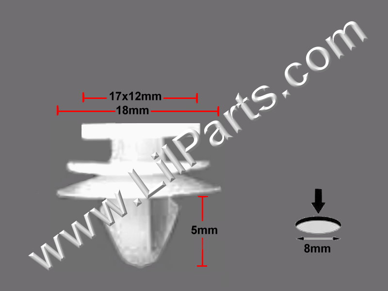 Compatible with Chrysler Clips  PN:[11-834]