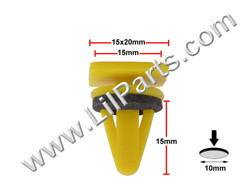 Compatible with Hyundai Kia OEM Moulding Clips  PN:[11-828]