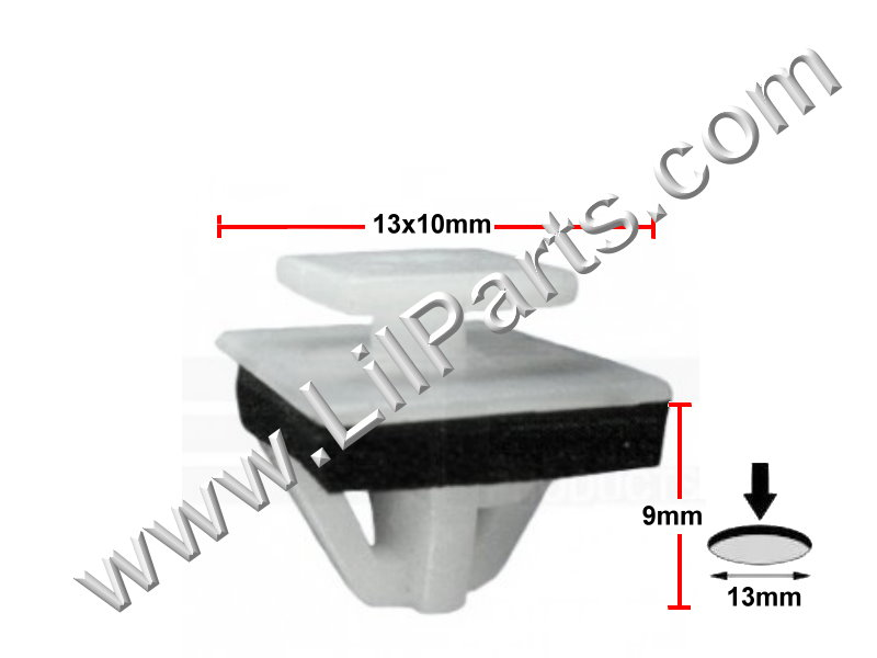 Compatible with Hyundai Kia OEM Moulding Clips  PN:[11-832]