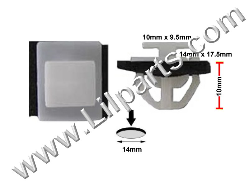 Compatible With Hyundai Window Moulding Trim Clips