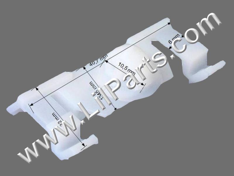 White Under Rocker Panel Fender Retaining Clip PN:[C1881]